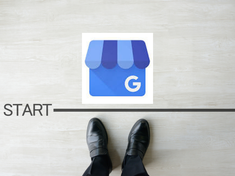 Google My Business Logo with start line